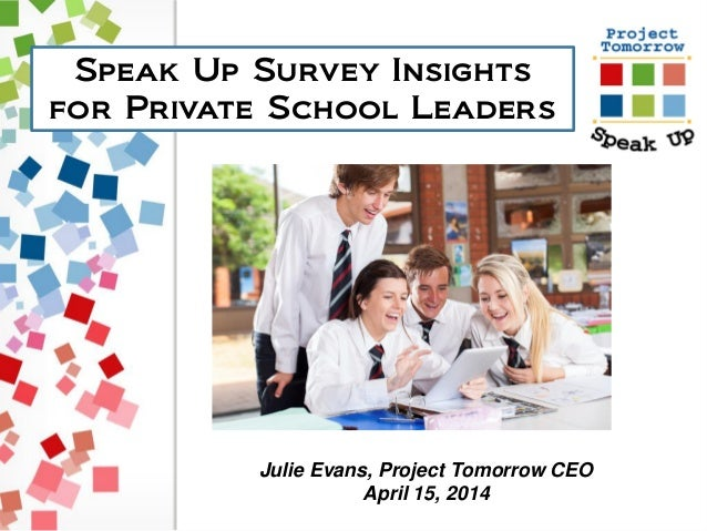 Speak Up Survey Insights for Private School Leaders