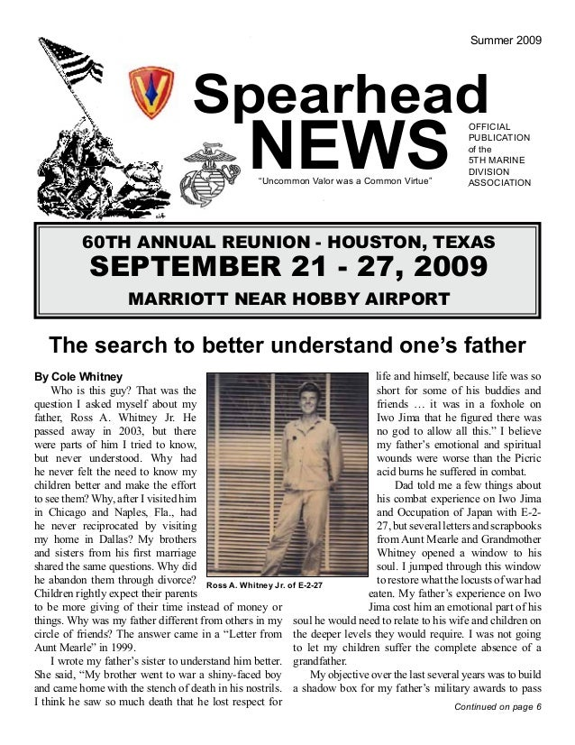 My Article in USMC Association about My Father