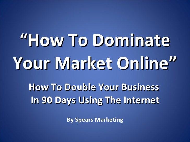 Local Search Marketing Domination