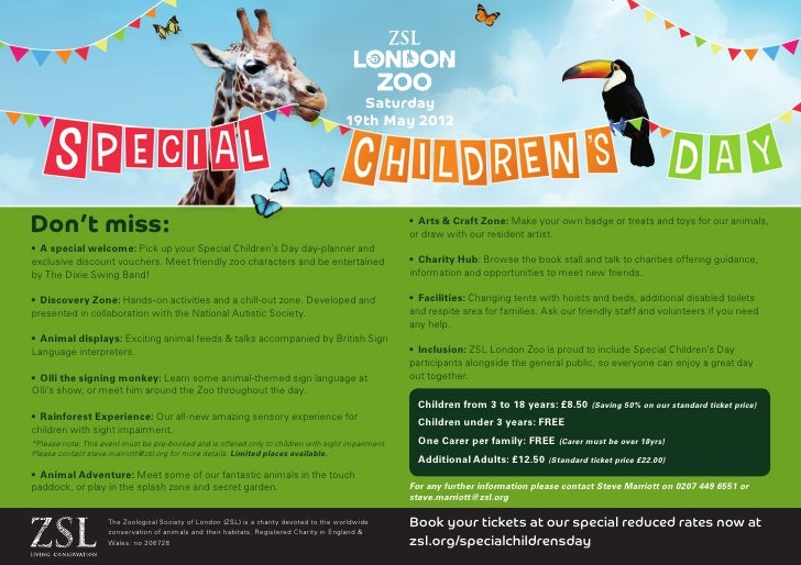Special childrens day - London Zoo
