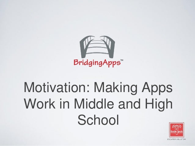 Motivation: Making Apps Work in Middle and High School