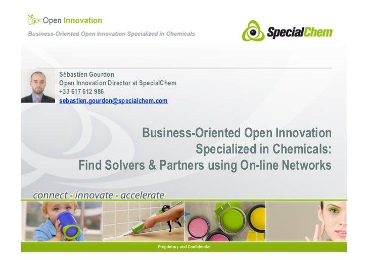 Sébastien GourdonOpen Innovation Director at SpecialChem+33 617 612 986sebastien.gourdon@specialchem.com                  ...