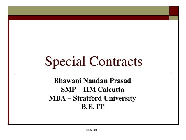 Special contracts by bhawani nandan prasad   it director