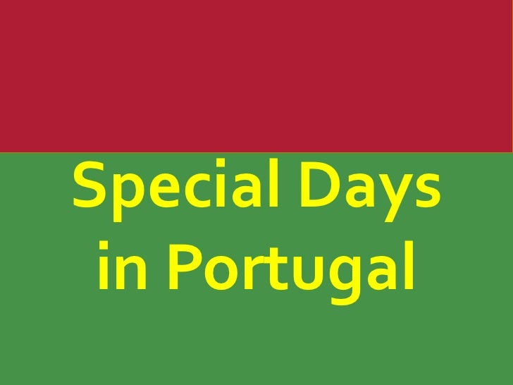 SpecialDays<br />in Portugal<br />