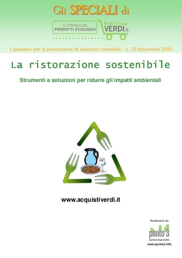 La ristorazione sostenibile