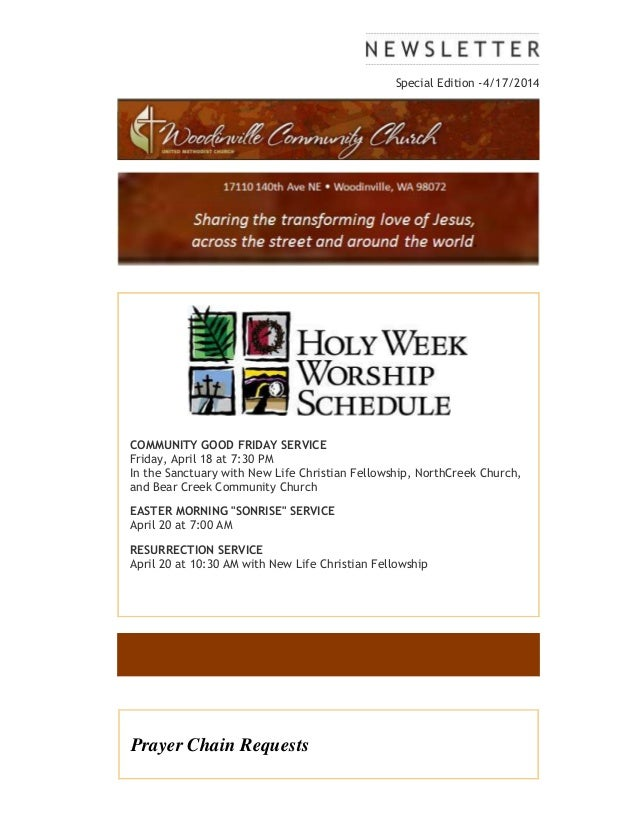 Special edition Holy Week 4 17-14