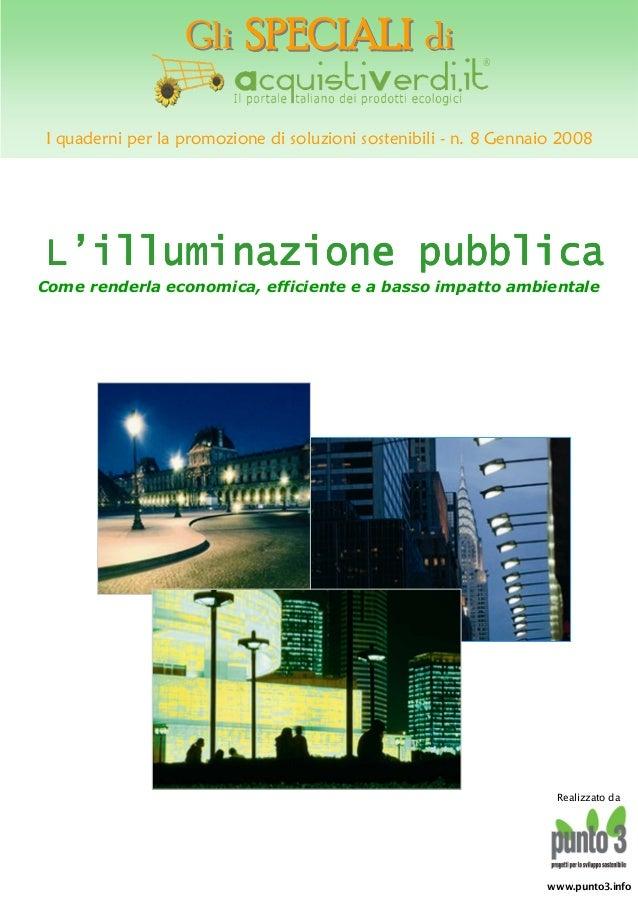 L'illuminazione pubblica