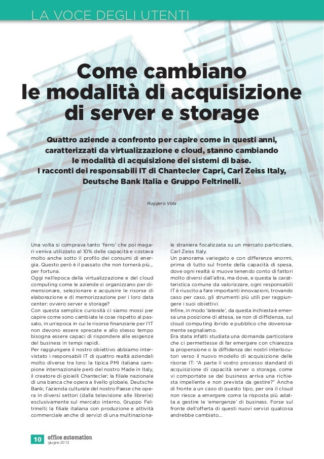 Speciale server storage office automation  giugno 2013