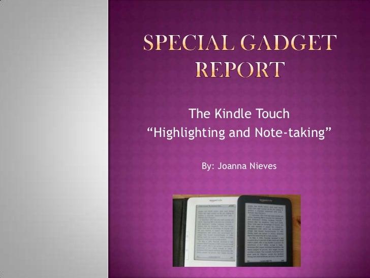 Special gadget report