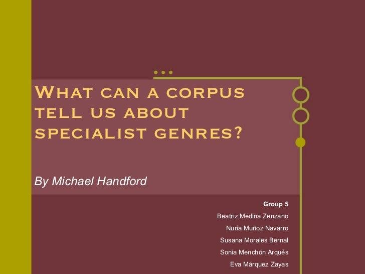 Specialist genres