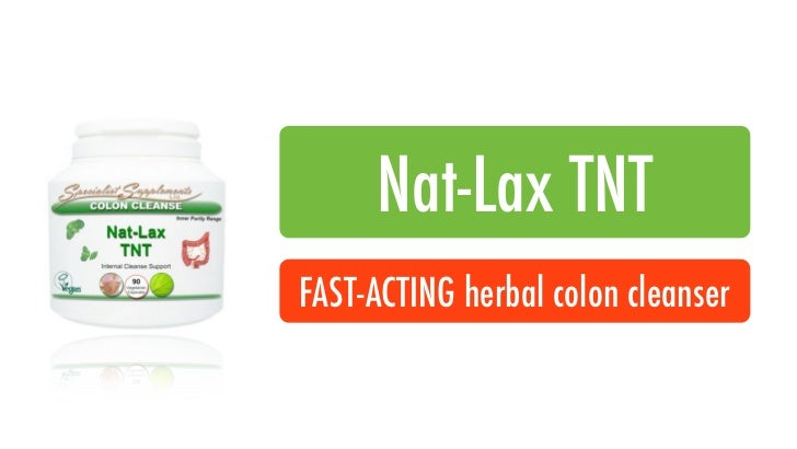 Nat-Lax TNTFAST-ACTING herbal colon cleanser