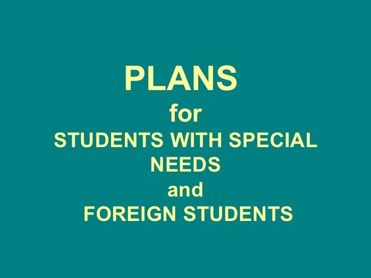 Special plans (IPSIA A.FERRARI)
