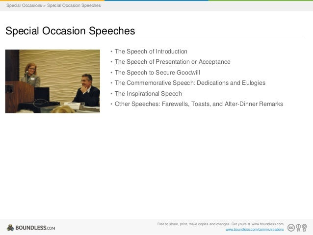How to write a special occasion speech