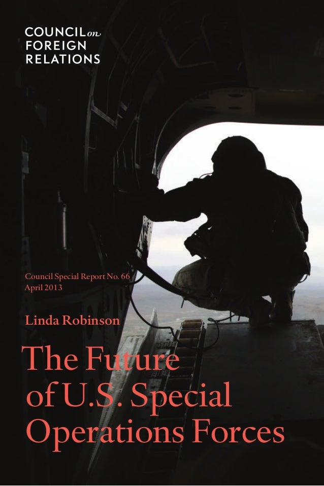 CFR Report: The Future of Special Operations, by Linda Robinson