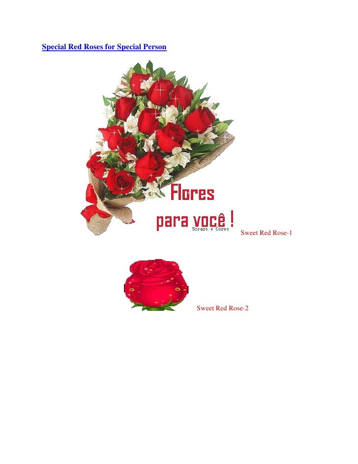 Special red roses for special person