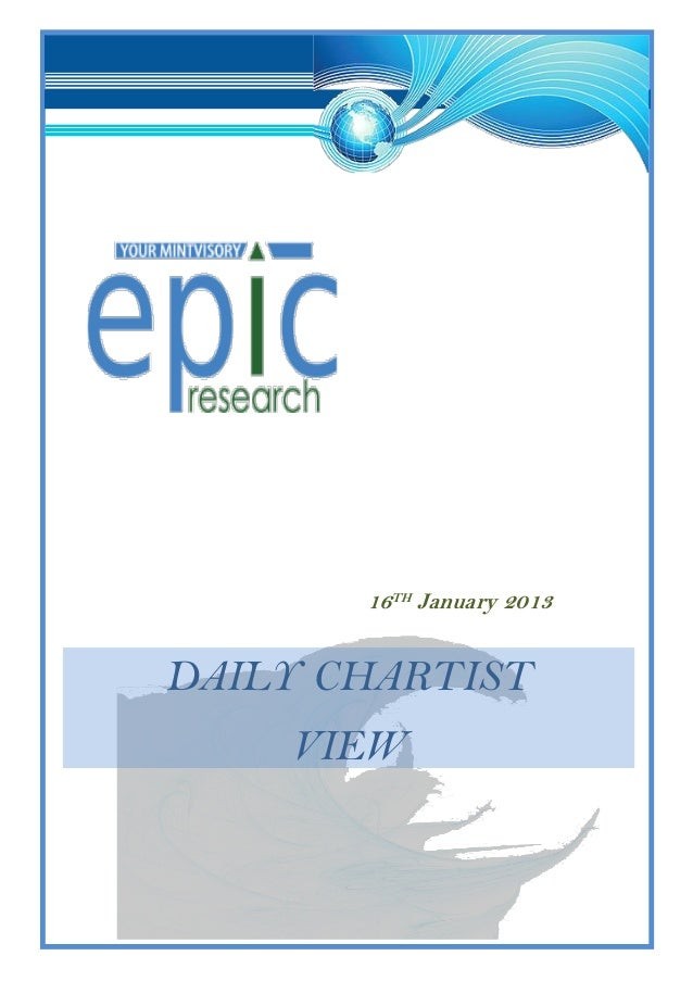 16TH January 2013DAILY CHARTIST    VIEW