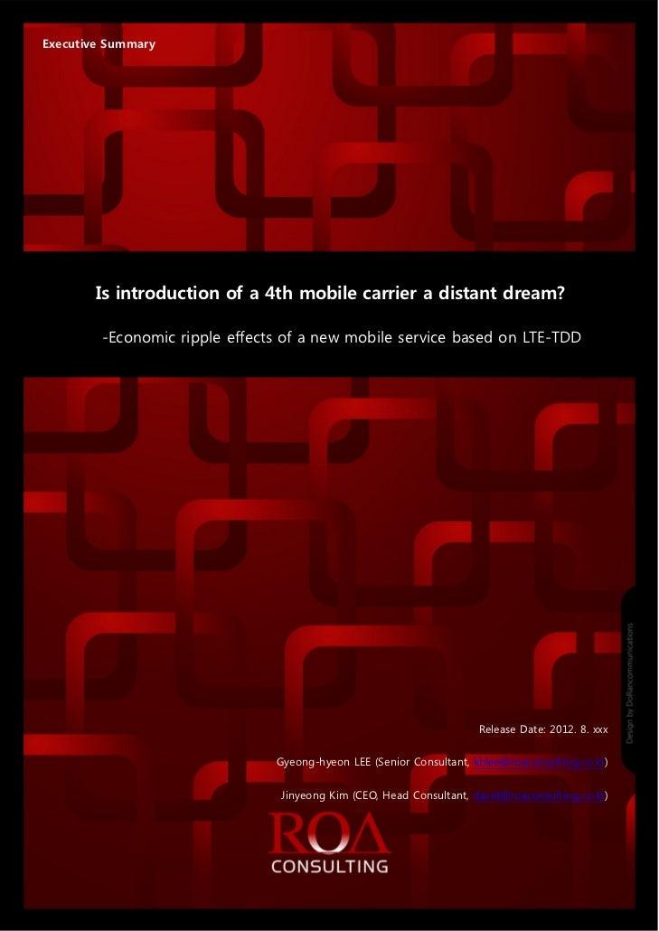 [Special report]korean 4th mno is a distant dream lte tdd_20120828