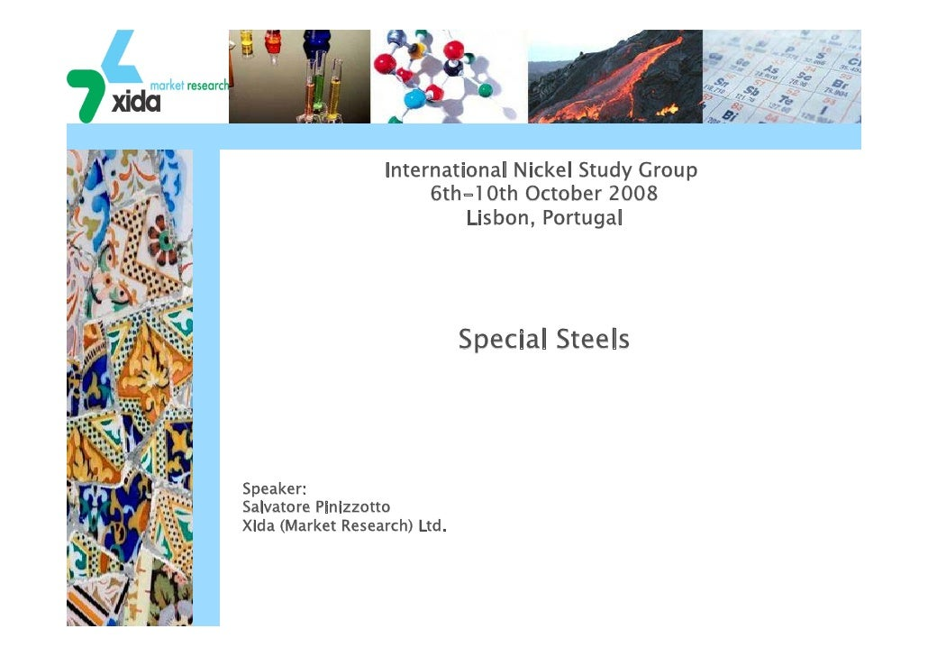 International Nickel Study Group                        6th-10th October 2008                            Lisbon, Portugal ...