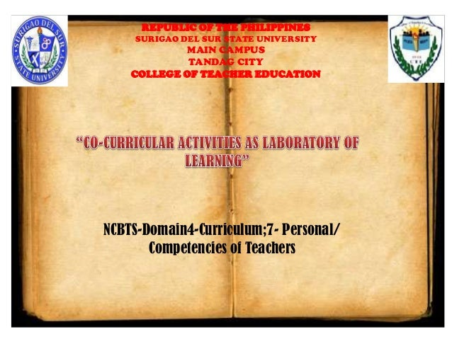 """CO-CURRICULAR ACTIVITIES AS LABORATORY OF LEARNING"""