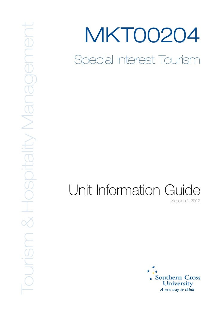 Tourism & Hospitality Management                                     MKT00204                                   Special In...