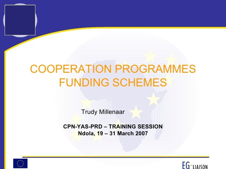 FP7 Specific Programme Cooperation (March 2007)