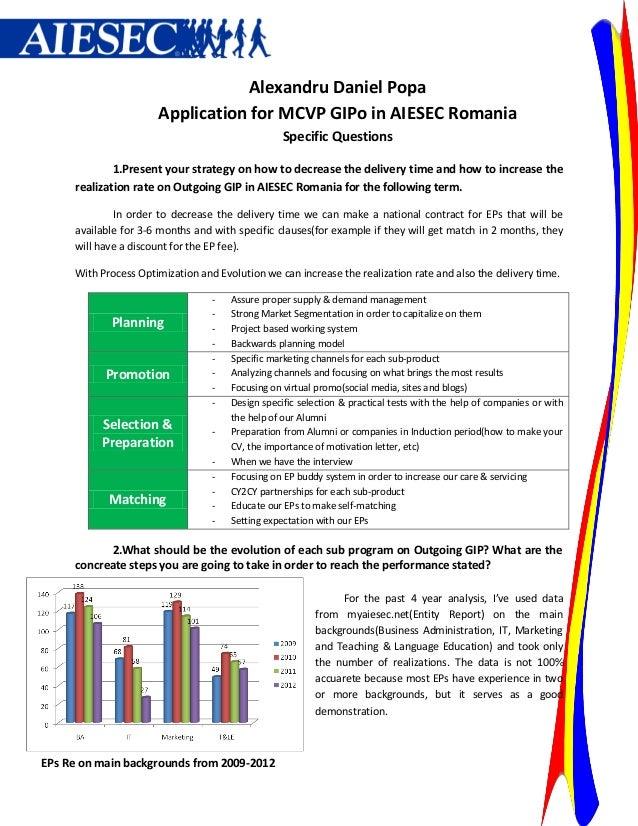 Alexandru Daniel Popa                      Application for MCVP GIPo in AIESEC Romania                                    ...