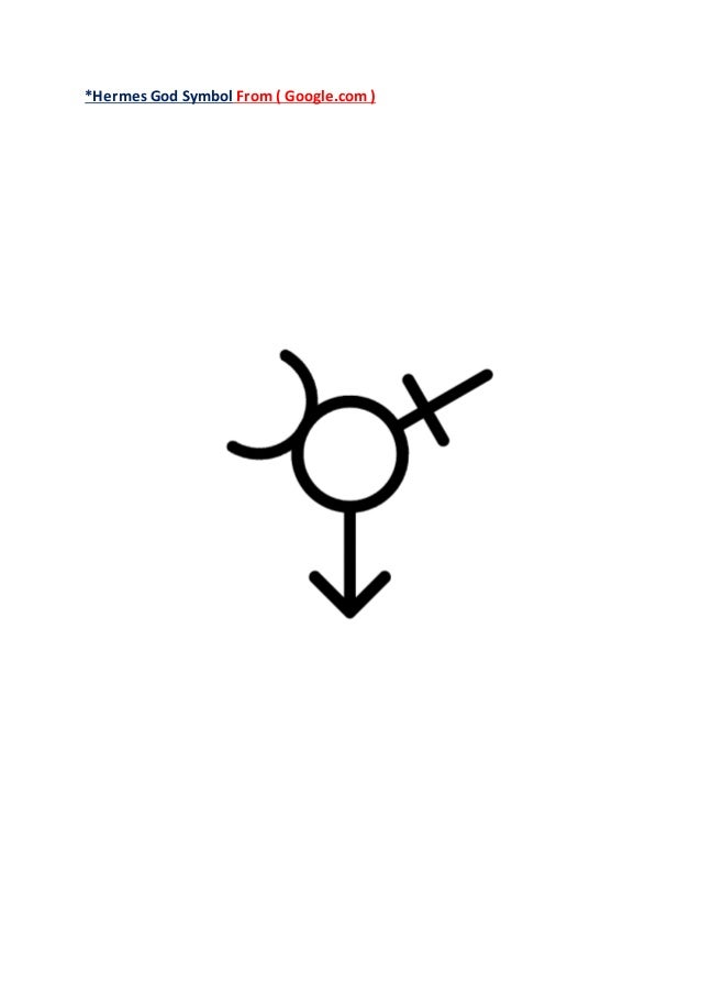 Greek God Hermes Symbol F Fp 2018