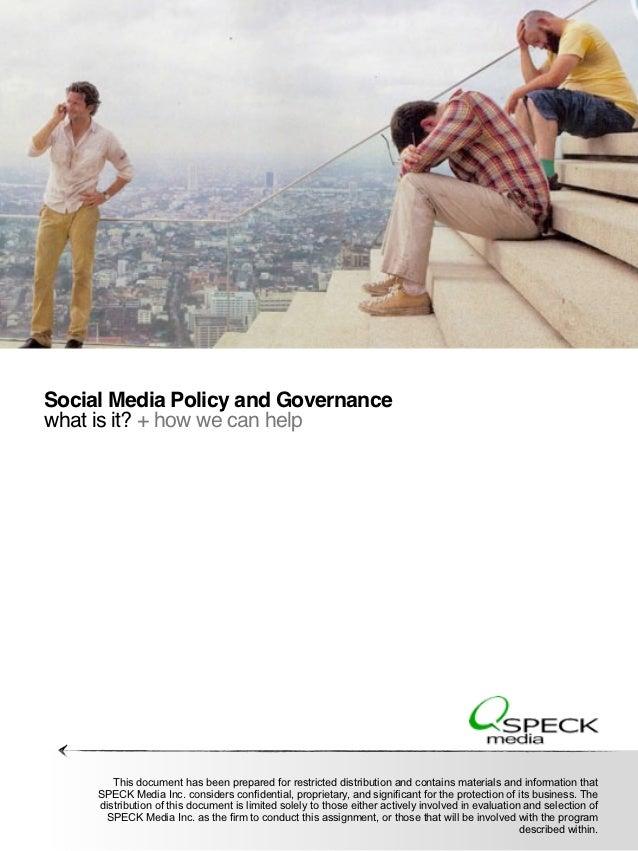 Speck media social media policy and governance model