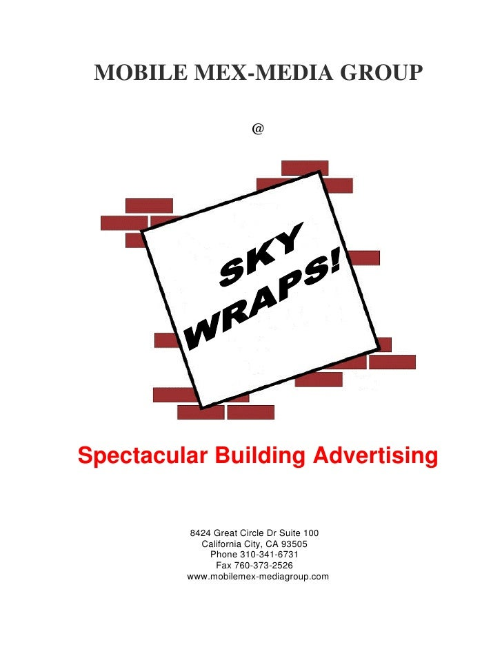 MOBILE MEX-MEDIA GROUP                      @Spectacular Building Advertising         8424 Great Circle Dr Suite 100      ...