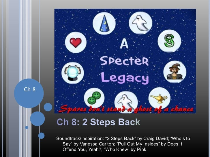 "Ch 8: 2 Steps Back<br />Ch 8<br />Soundtrack/Inspiration: ""2 Steps Back"" by Craig David; ""Who's to Say"" by Vanessa Carlton..."