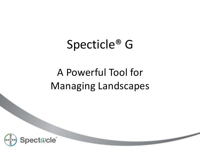 Specticle® GA Powerful Tool forManaging Landscapes