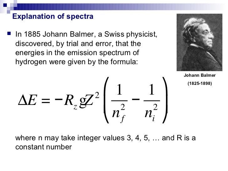 Hydrogen Spectra explained