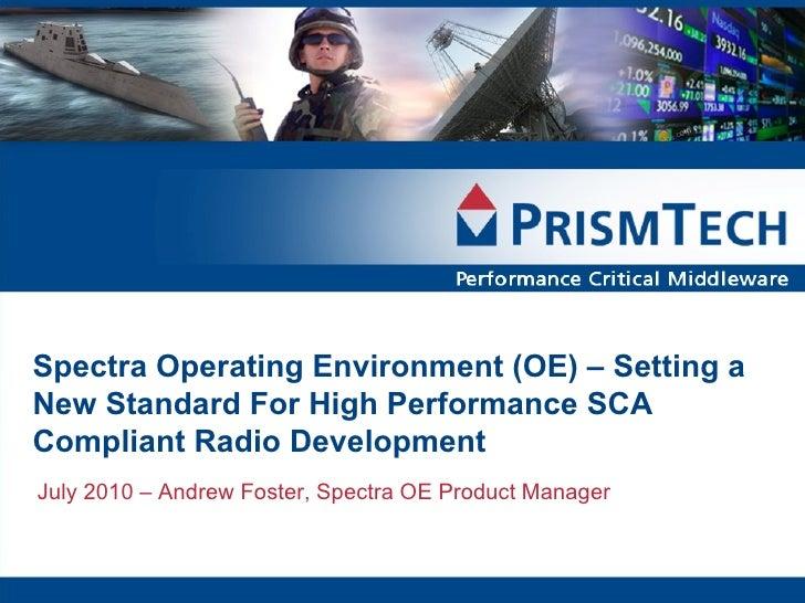 Spectra OE Webcast July 2010