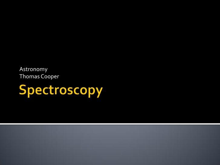 Astronomy Thomas Cooper