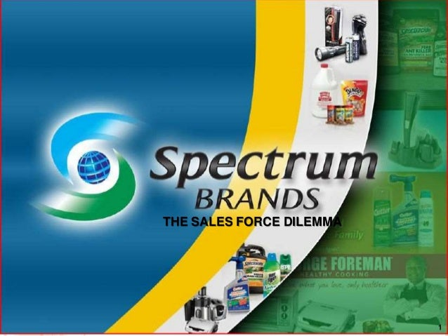 Spectrum brands: The Sales Force Dilemma