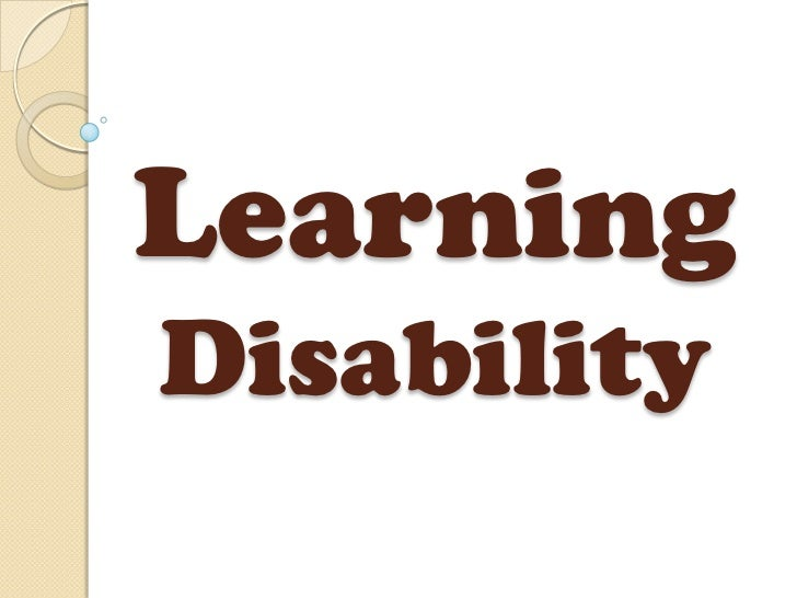 Sped 4 Learning Disability Definition and Types