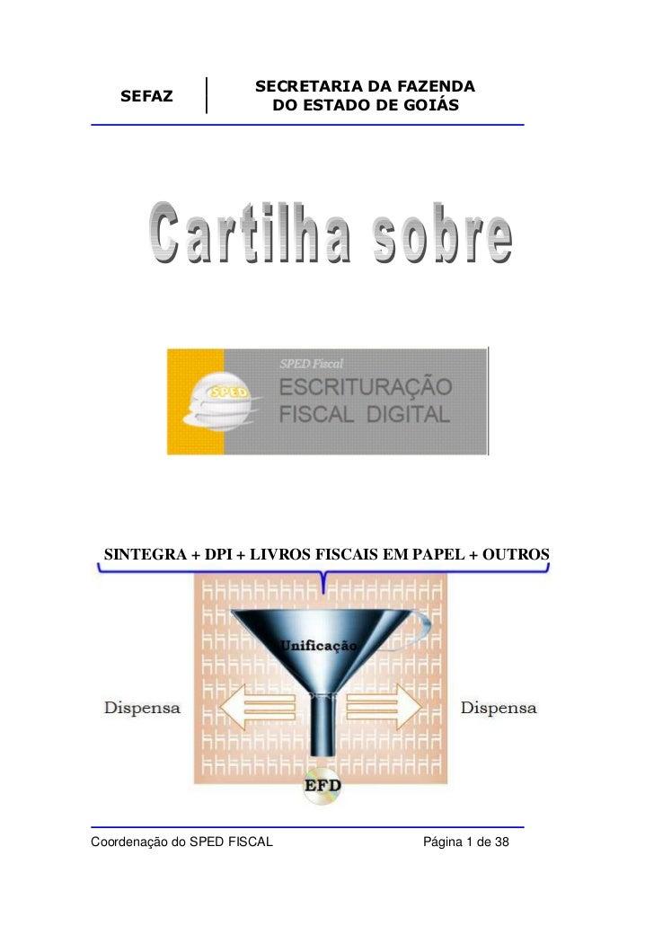 Cartilha SPED Fiscal ICMS/IPI - SEFAZ-GO