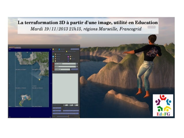 La terraformation 3D à partir d'une image, utilité en education