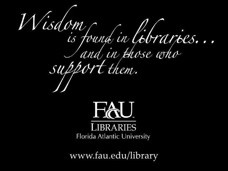 www.fau.edu/library<br />