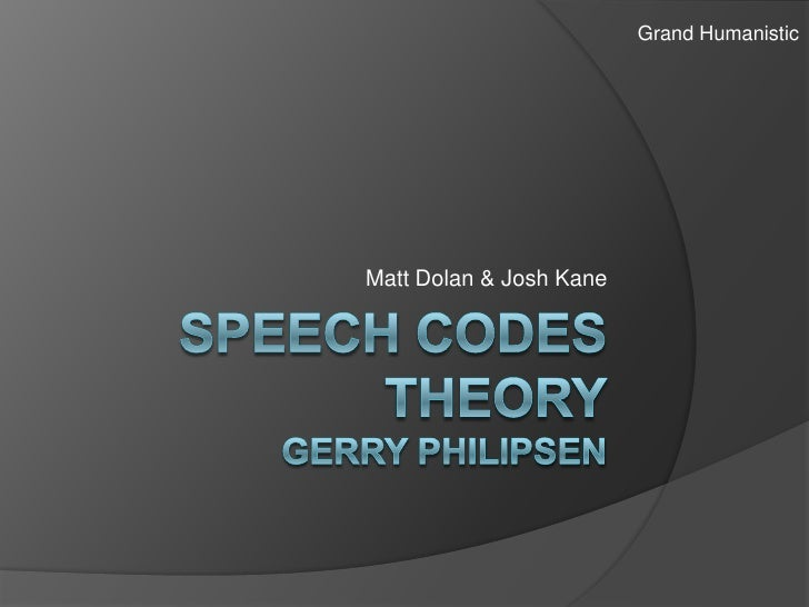 Speech codetheory