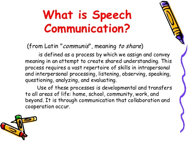 What is a speech
