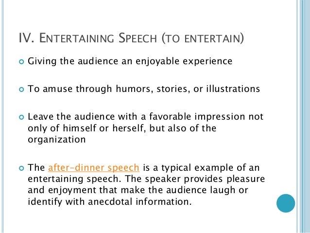 demonstrative speech outline