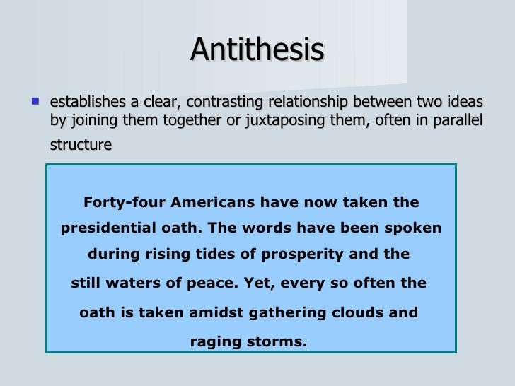 how is antithesis different from parallelism Check your understanding of the use of antithesis in literature with an y=noticeably different x to learn more about the literary device of antithesis.