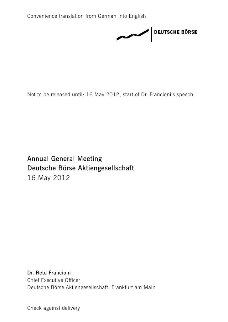 Convenience translation from German into EnglishNot to be released until: 16 May 2012, start of Dr. Francioni's speechAnnu...
