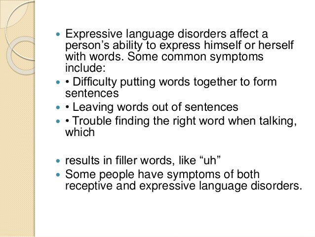 introduction to expressive language disorder english language essay [1] language acquisition progresses across these components with  limited  english proficiency, strong phonological awareness in their native language was   when explicit instruction is used to introduce a concept or skill, small-group  and  their rate of speed while reading and become more expressive while  reading.