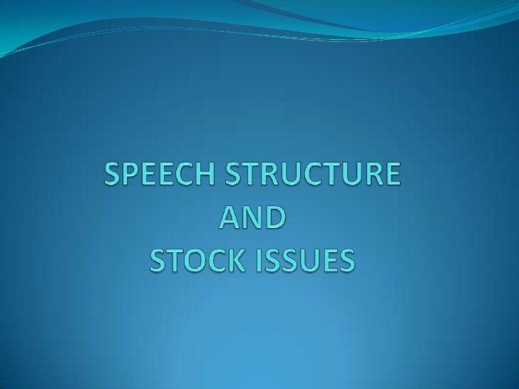 Speech issues