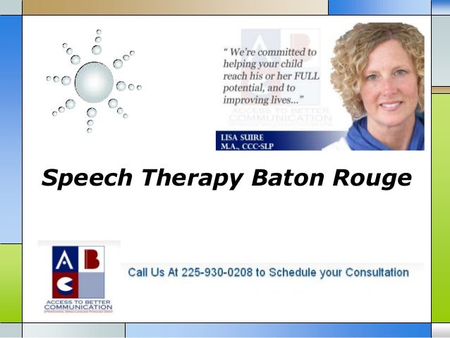 Speech Therapy Baton Rouge