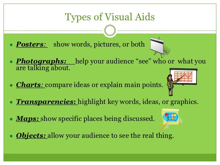 essay on visual aids Using visual aids simply does not ensure effective communication that can keep the audience entertained and involved in your presentation the choice and the right approach towards the use of visual aids are important in conducting a seminar or college presentation or a training program.
