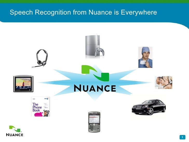 Speech Recognition from Nuance is Everywhere