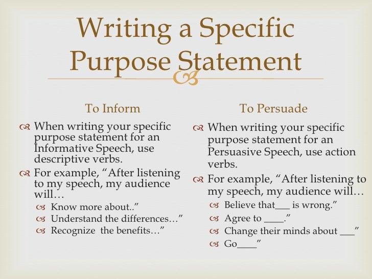 How to Write an Informative Speech